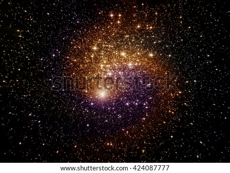 "Stars, dust and gas nebula in a far galaxy. ""Elements of this image furnished by NASA"""