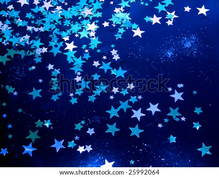 Stars in a night  sky