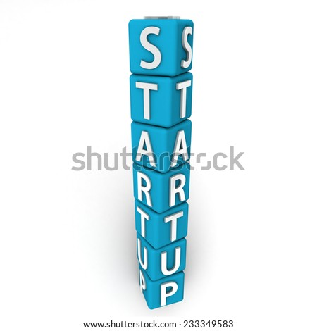 Startup Text on Cubes
