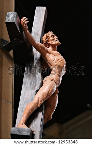 Statue of Christ - Newcastle Cathedral