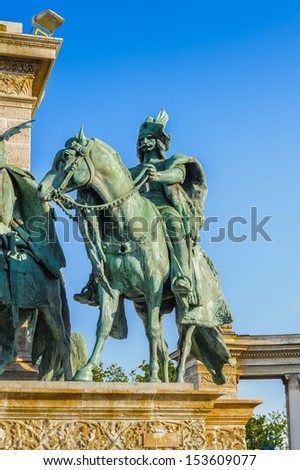 Statue of the Heroes square, Budapest, Hungary