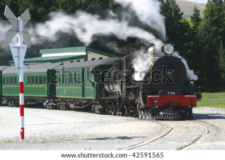 Steam Engine and Passenger Cars