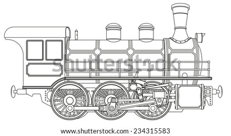 Drawing Old Engine On Graph Paper 158490707 on locomotive engine interior