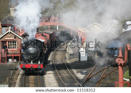 steam train station
