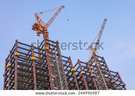 Barcelona spain april 24 la sagrada stock photo 76755175 - Steel framing espana ...