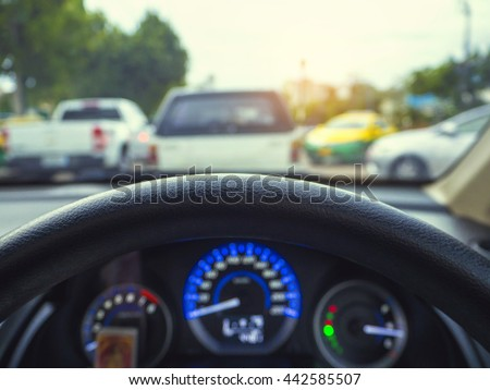 Vintage tone blur image inside car stock photo 364695653 for Selective motor cars miami