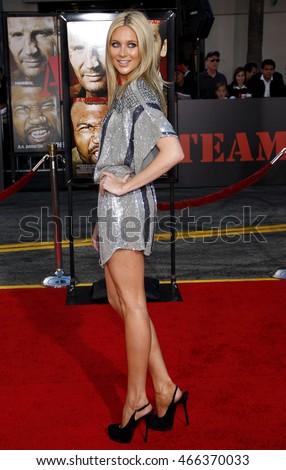 london presenter alex lovell stars behind stock photo