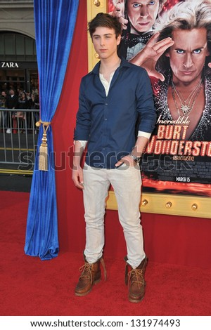 "Sterling Beaumon at the world premiere of ""The Incredible Burt Wonderstone"" at the Chinese Theatre, Hollywood. March 11, 2013  Los Angeles, CA Picture: Paul Smith"