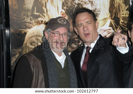 Steven Spielberg and Tom Hanks at  'The Pacific' Mini Series screening, Chinese Theater, Hollywood, CA. 02-24-10
