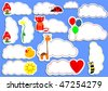 Stickers. For vector format click on my name! - stock vector