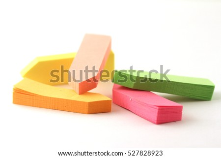 sticky notes isolated on white background