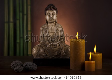 Still life, Buddha with candle
