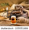 still life with felloe - stock photo