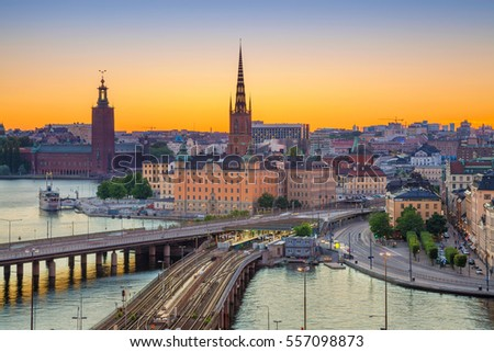 Stockholm. Cityscape image of Stockholm, Sweden during sunset.