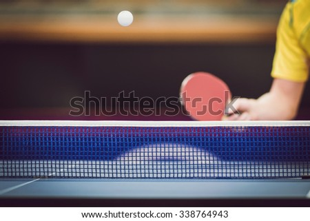 STOCKHOLM, SWEDEN - NOV 11, 2015: Table tennis tournament SOC at the arena Eriksdalshallen. Swedish Open Championships