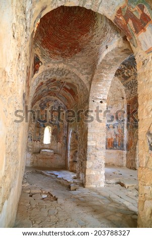 Kotor Old Town Medieval Fortification Ramparts Stock Photo ...