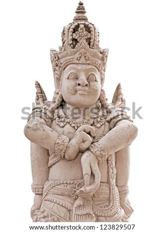 Mayan Jaina King Figurine Classic Period Stock Photo