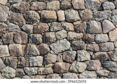Stone wall texture patterns for background.