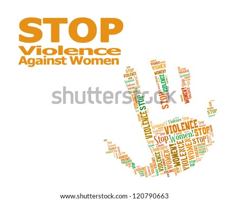 Stop Violence Against Women word clouds