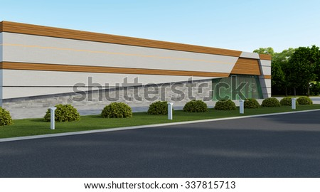 store front with wood and bricks