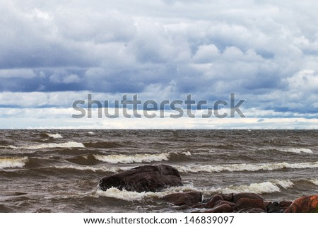 Stormy day in Baltic sea.
