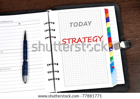 Strategy message on today page