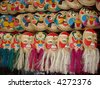 straw tray's art - Vietnam famous souvenir in multi-faces - stock photo