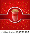 strawberry jam. bitmap version - stock photo