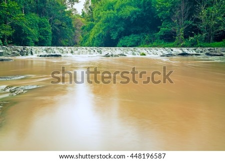stream waterfall - Cloudy water in rainy season