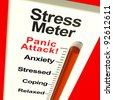 Stress Meter Showing  Panic Attack From Stress And Worry - stock photo