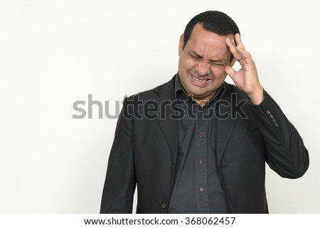 Stressed Indian businessman