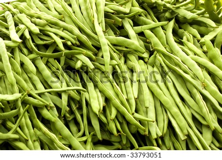 string beans on the Greek Market