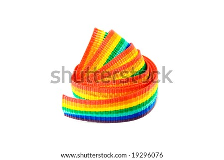 stripe ribbon on white background