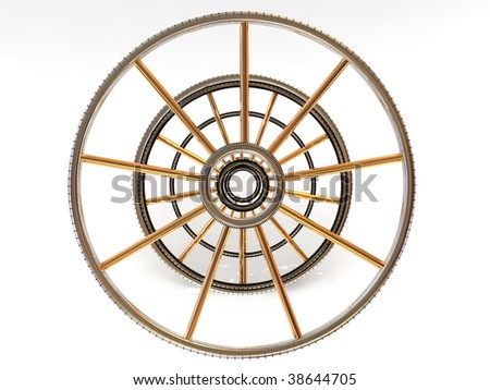 Structure of a wheel. 3d