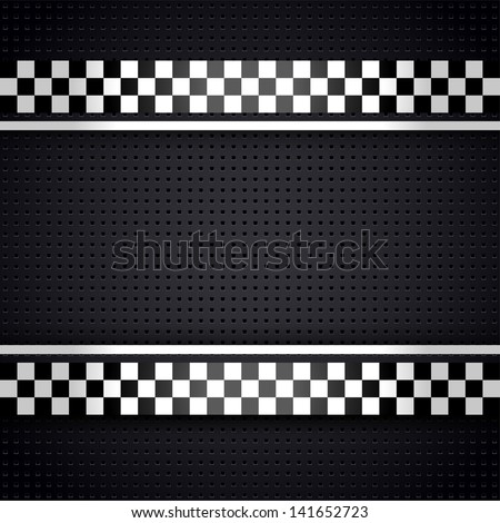 Structured metallic perforated for race sheet gray template. Vector version (eps) also available in gallery