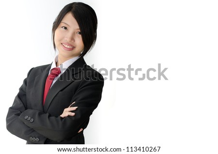 Student of business program, Isolated over white background