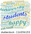 students concept in word collage - stock photo