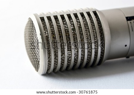 Studio microphone. Object over white