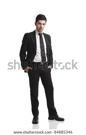 Studio portrait of a young businessman isolated over a white background
