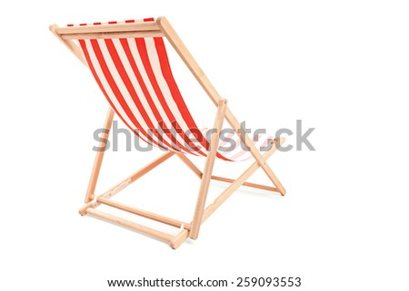 Studio shot of a sun lounger isolated on white background