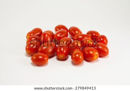 Studio shot of cherry tomatoes isolated on white