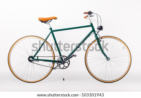 Studio shot of retro styled bicycle