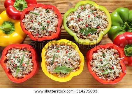 Watch Bulgur and Beef Stuffed Peppers video