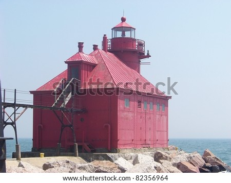 Sturgeon Bay Canal Red Lighthouse