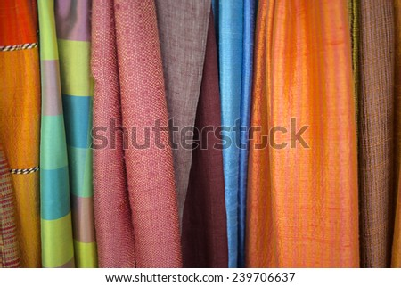 Styles of silk colors combinations.
