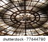 Stylish huge ceiling chandelier. - stock photo