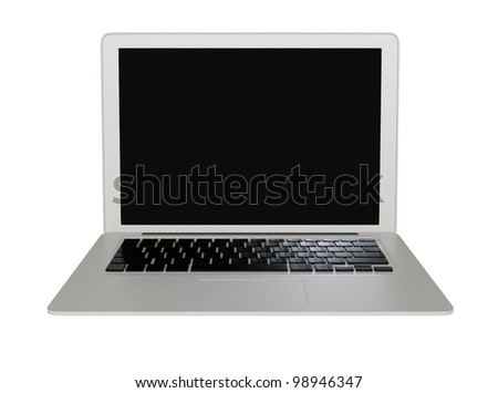 stylish laptop front view