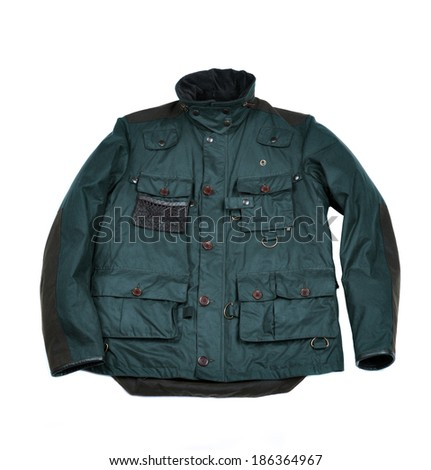 stylish men's jacket with pockets.