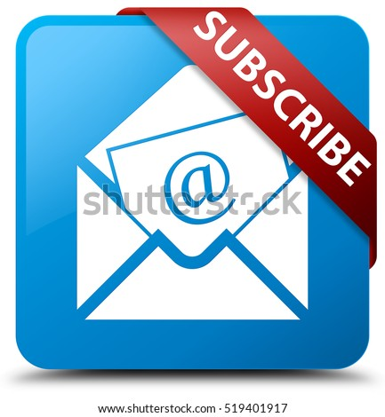 Subscribe (newsletter email icon) cyan blue square button