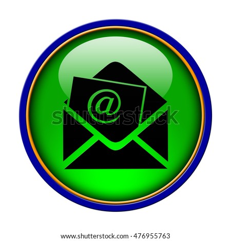Subscribe (newsletter email icon) icon. Internet button.3d illustration.